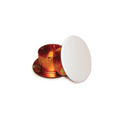 Uponor Q70749WH Concealed Flat Cover Plate, 3-1/4 in OD, Domestic