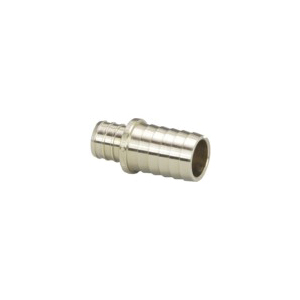 Viega PureFlow® 46156 Model V5047ZL Adapter, 1 in, PEX Crimp™ x Polyethylene, Brass, Domestic