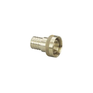 Viega PureFlow® Lead-Free Supply Adapter, 3/4 x 1 in, Crimp x Supply, Brass, Import