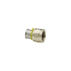 Viega 91560 PureFlow® Pipe Adapter, 1 in, Press x FNPT, Bronze, Import