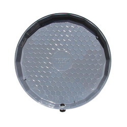 VizCO VP27-P PRO Flat Drain Pan, 2-1/2 in D, For Use With Gas and Electric Tank, PVC, Domestic