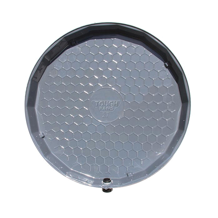 VizCO VP25-P PRO Flat Drain Pan, 2-1/2 in D, For Use With Gas and Electric Tank, PVC, Domestic