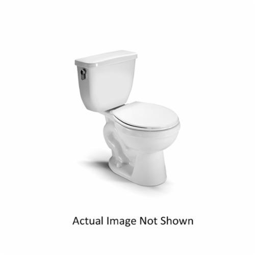 Vortens® 3208WH VIENNA RF DF Front Toilet Bowl, Round, 7 x 8 in Water Surface, 2-1/8 in Trapway