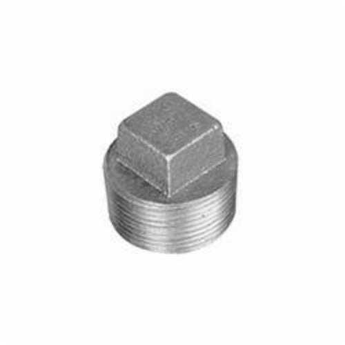 Ward Mfg 2.NP Regular Square Head Cored Plug, 2 in, MNPT, 125 lb, Cast Iron, Galvanized, Domestic