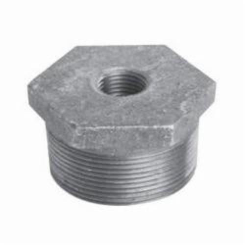 Ward Mfg 1DX1.GB Hex Head Pipe Bushing, 1-1/2 x 1 in, Threaded, 150 lb, Malleable Iron, Galvanized, Domestic
