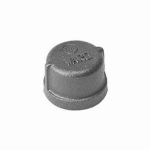Ward Mfg D.BMCAP Pipe Cap, 1/2 in, FNPT, 150 lb, Malleable Iron, Black, Domestic