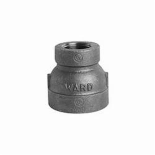 Ward Mfg EXD.NMC Reducing Pipe Coupling, 3/4 x 1/2 in, FNPT, 150 lb, Malleable Iron, Galvanized, Domestic