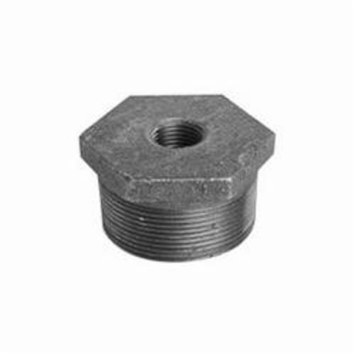 Ward Mfg 2X1.NB Hex Head Pipe Bushing, 2 x 1 in, FNPT x MNPT, 125 lb, Cast Iron, Galvanized, Domestic