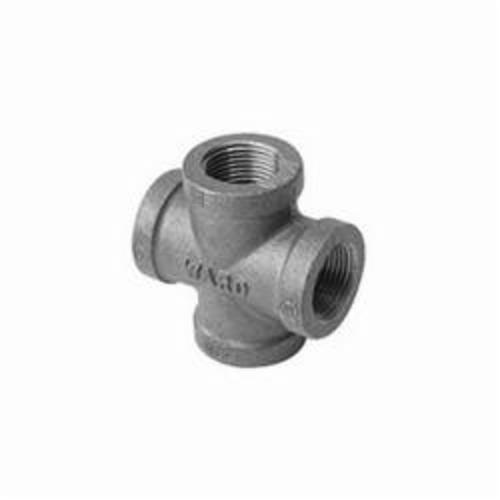 Ward Mfg E.NMCR Straight Pipe Cross, 3/4 in, FNPT, 150 lb, Malleable Iron, Galvanized, Domestic