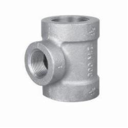 Ward Mfg 1BX1.NMT Reducing Pipe Tee, 1-1/4 x 1-1/4 x 1 in, FNPT, 150 lb, Malleable Iron, Galvanized, Domestic