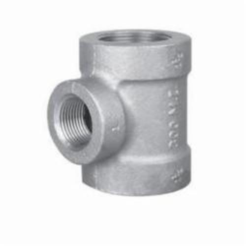 Ward Mfg EXD.NMT Reducing Pipe Tee, 3/4 x 3/4 x 1/2 in, FNPT, 150 lb, Malleable Iron, Galvanized, Domestic