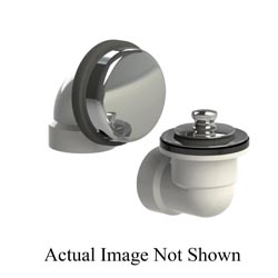 Watco® 901-LTRI-PVC-CP Rough-In Kit With Chrome Plated Lift and Turn Stopper, PVC