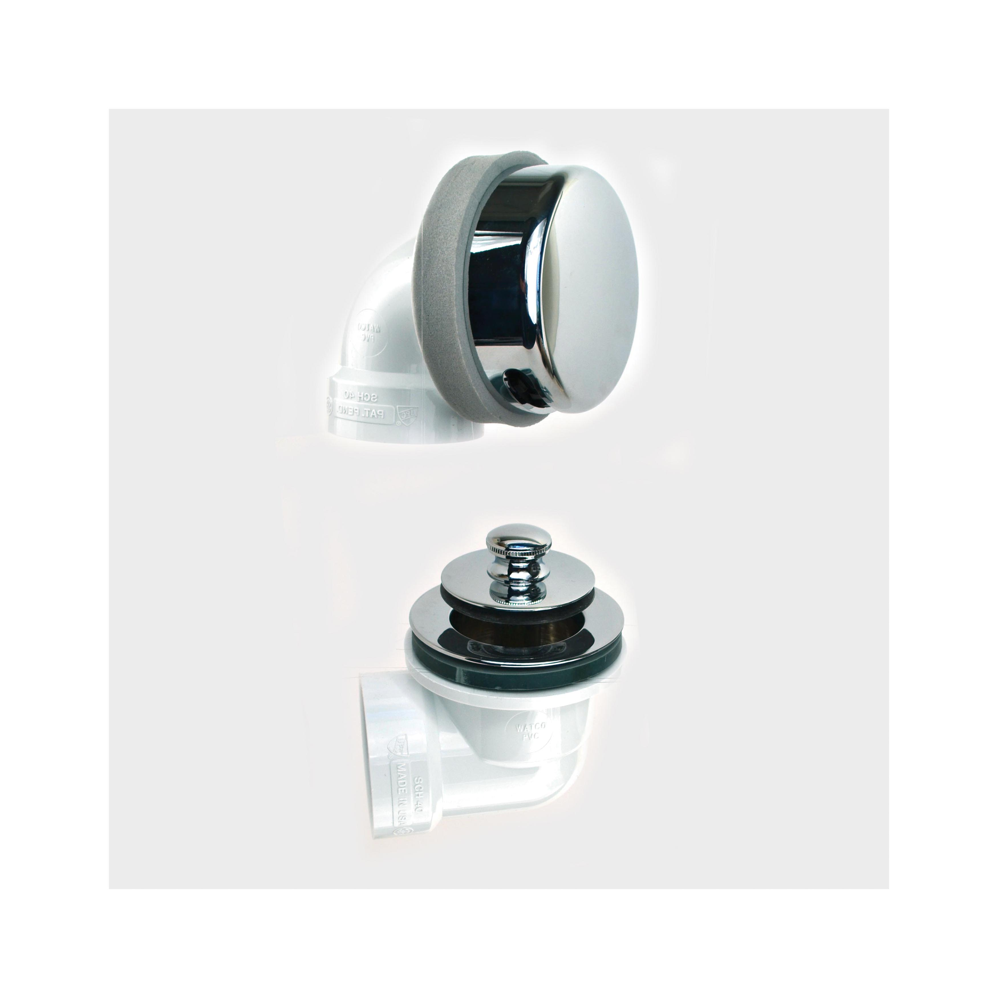 Watco® 901-PP-PVC-CP Innovator® 901 Solvent Weld Bath Waste Half Kit, STD PVC, Chrome Plated