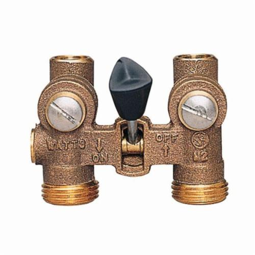 WATTS® 0006644 2-M2 Duo-Cloz™ Manual Shutoff Valve, 1/2 in, 150 psi, Brass Body