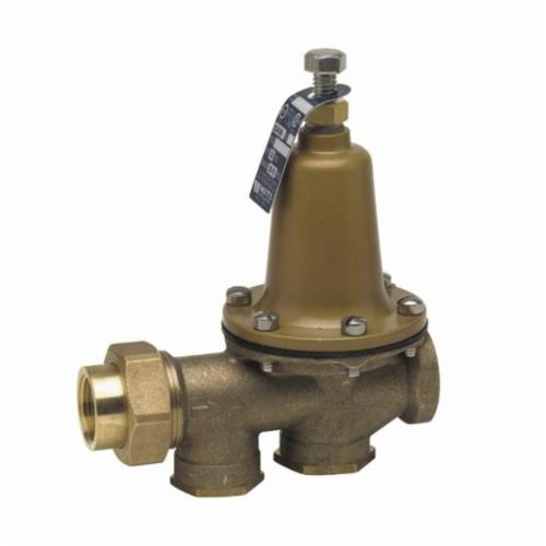 WATTS® LF25AUB-Z3 Lead Free Pressure Reducing Valve, 1-1/2 in, FNPT Union x FNPT, 300 psi, Copper Silicon Alloy