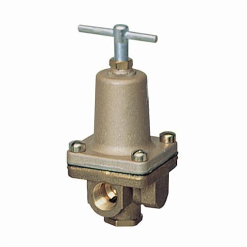 WATTS® 0125345 LF263A Small 3-Way Pressure Regulator, 1/2 in, FNPT, 300 psi, Brass Body