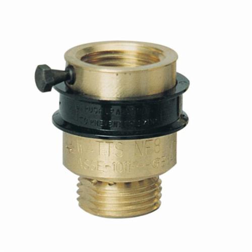 WATTS® 0061854 8 Series Vacuum Breaker, 3/4 in, Female Hose Thread x Male Hose Thread, Brass Body