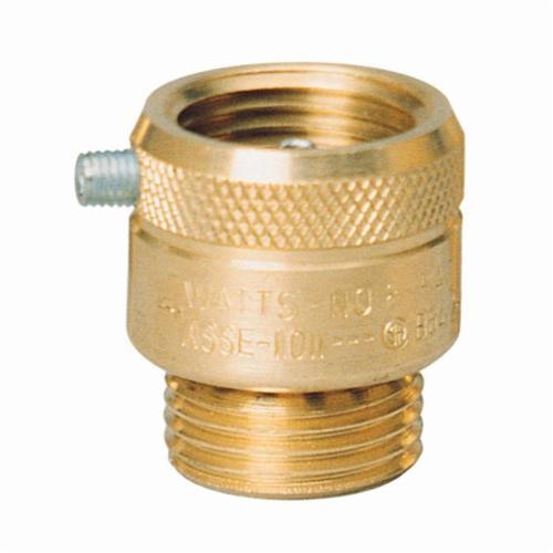 WATTS® 0061877 8 Series Vacuum Breaker, 3/4 in, Female Hose Thread x Male Hose Thread, Brass Body