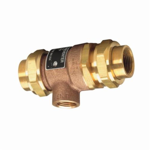 WATTS® 0061888 9D Series Dual Check Valve With Intermediate Atmospheric Vent, 3/4 in, Forged Brass Body