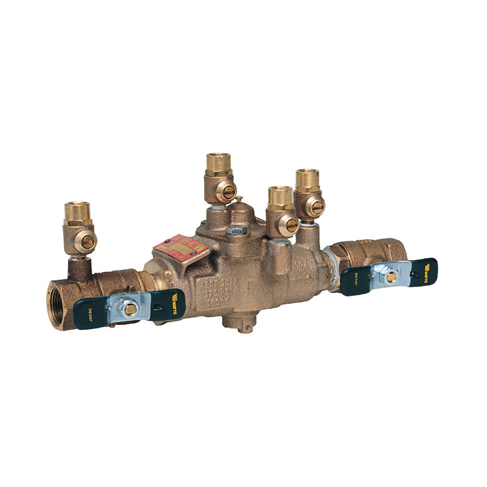 WATTS® 0062094 009 Reduced Pressure Zone Assembly, 1/2 in, NPT, Quarter-Turn Ball Valve, Bronze Body