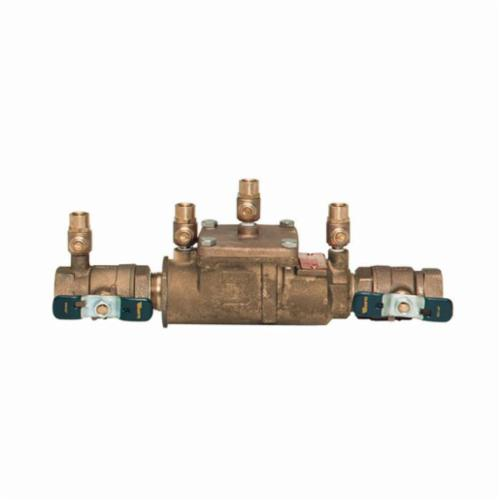 WATTS® 0063231 LF007 Double Check Valve Assembly, 3/4 in, FNPT, Quarter-Turn Ball Valve, Cast Copper Silicon Alloy Body, Double Check Backflow, Domestic