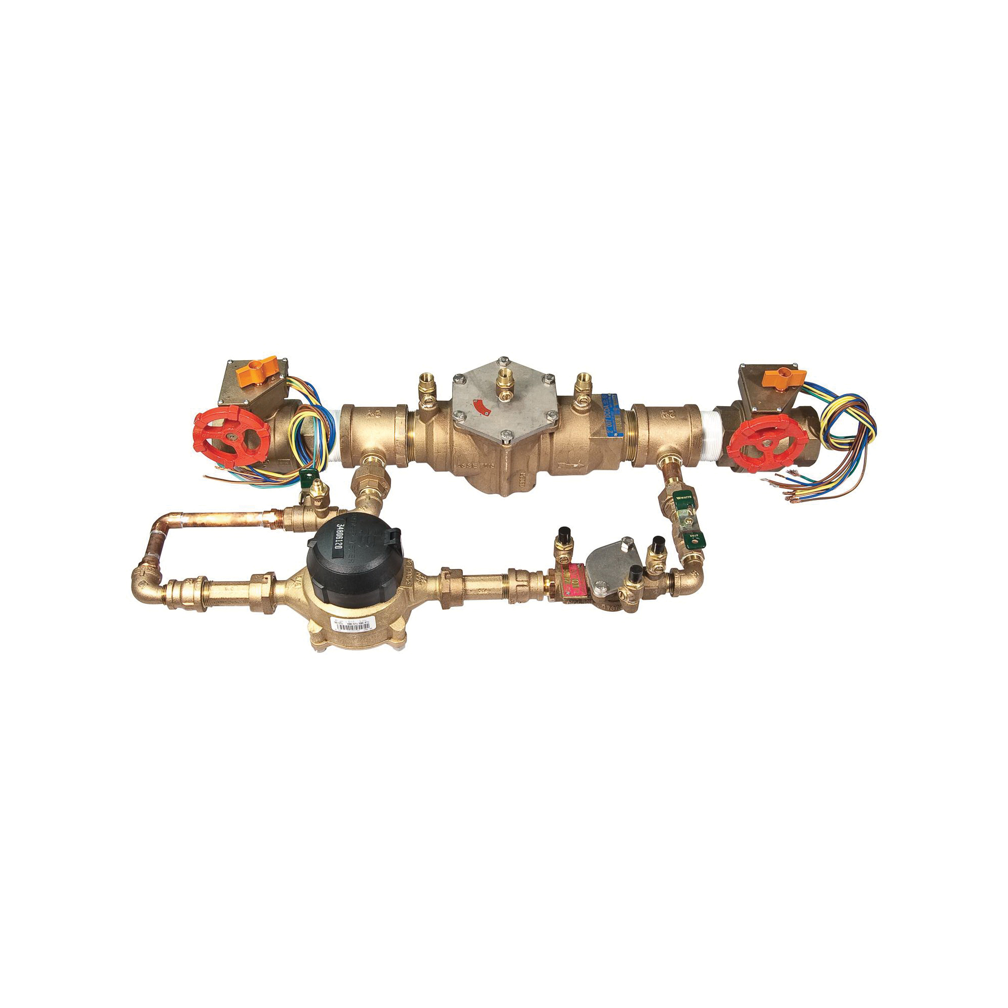 WATTS® 0387129 909 Reduced Pressure Zone Assembly, 1 in, Quarter-Turn Ball Valve, Bronze Body