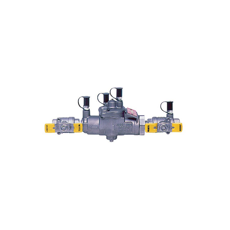 WATTS® 0062967 SS009 Reduced Pressure Zone Assembly, 1/2 in, NPT, Quarter-Turn Ball Valve, 316 Stainless Steel Body