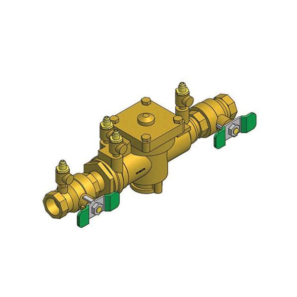 WATTS® 0063020 009 Reduced Pressure Zone Assembly, 1 in, NPT, Quarter-Turn Ball Valve, Bronze Body