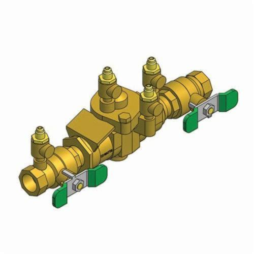 WATTS® 0063030 009 Reduced Pressure Zone Assembly, 3/4 in, NPT, Quarter-Turn Ball Valve, Bronze Body