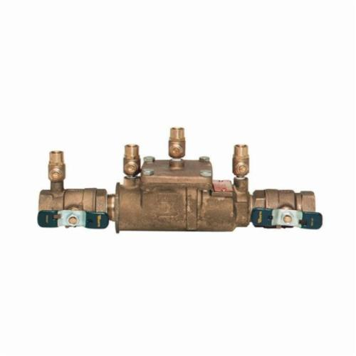 WATTS® 0063232 LF007 Double Check Valve Assembly, 1 in, Quarter-Turn Ball Valve, Cast Copper Silicon Alloy Body