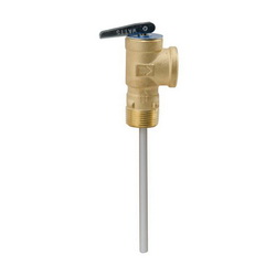 WATTS® 0556000 LF100XL Temperature and Pressure Relief Valve, 3/4 in, MNPT x FNPT, 150 psi, Copper Alloy Body