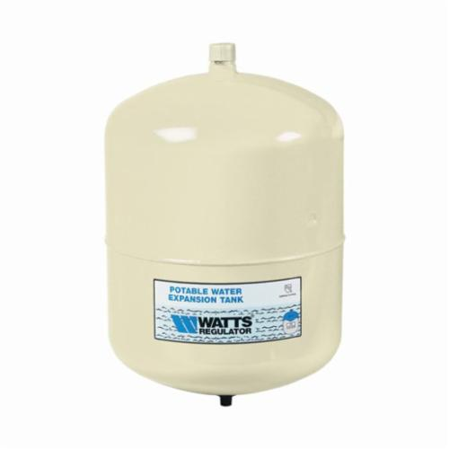 WATTS® 0067370 PLT Potable Water Expansion Tank, 2.1 gal Tank, 1.48 gal Acceptance, 150 psi, ASME Yes/No: No, 8 in Dia x 11 in H