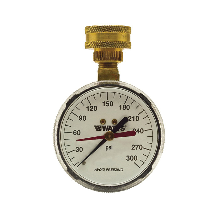WATTS® 0069721 276H300 Hose Connection Gauge, 0 to 300 psi, 3/4 in Hose Thread Connection, 2-1/2 in Dial