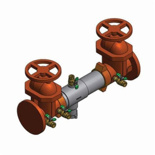 WATTS® 0111604 SilverEagle® 957 Reduced Pressure Zone Assembly, 4 in, Grooved, Resilient Seated Gate Valve, 304 Stainless Steel Body