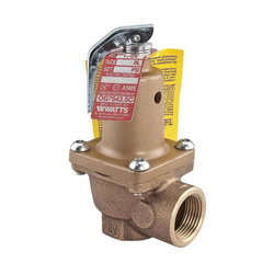 WATTS® 0274428 174A Pressure Relief Valve, 3/4 in, FNPT, 30 psi, Bronze Body