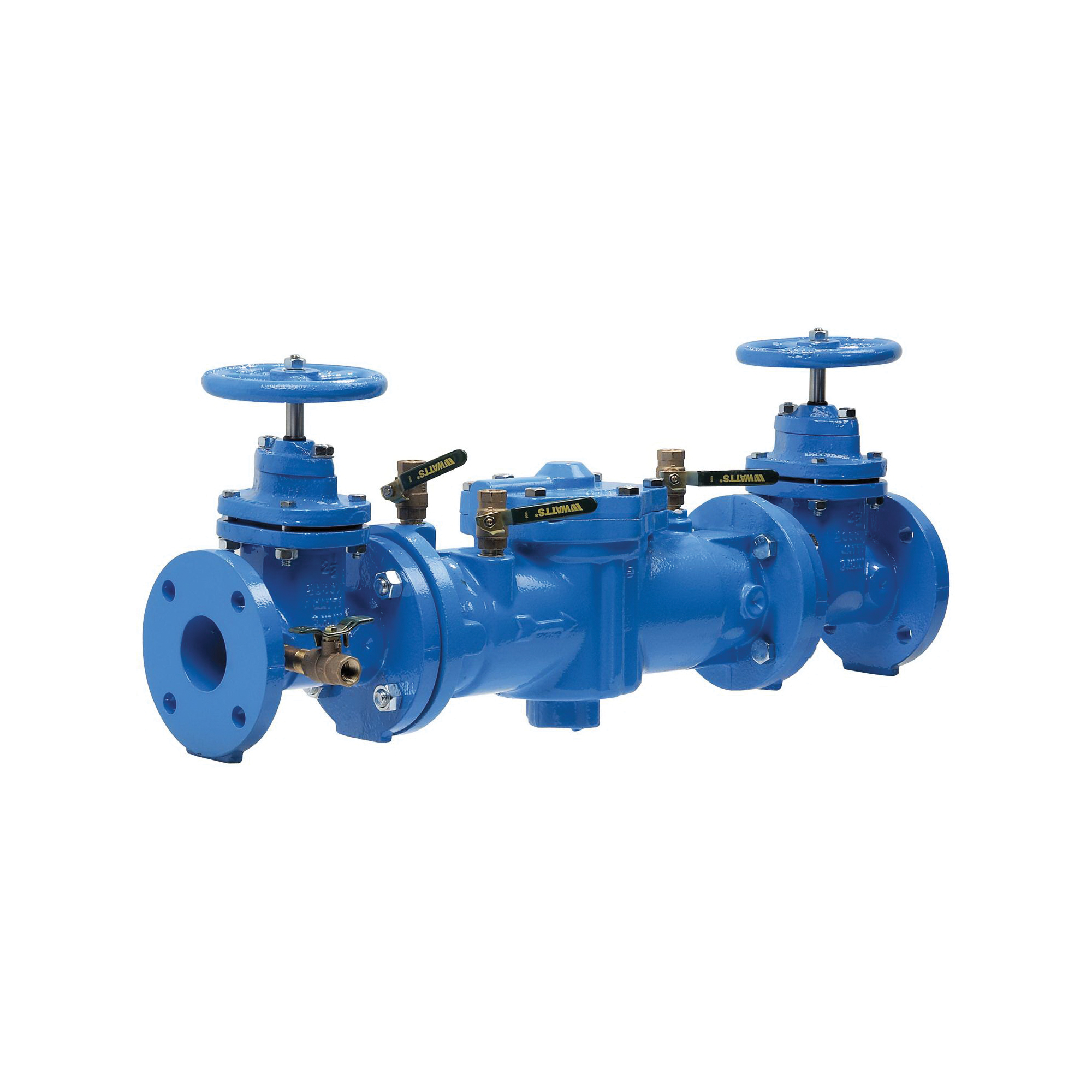 WATTS® 0122614 LF007 Double Check Valve Assembly, 2-1/2 in, Resilient Seated Gate Valve, Cast Iron Body