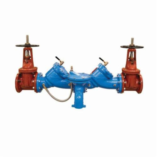 WATTS® LF909 Lead Free Reduced Pressure Zone Assembly With OSY Gate Valve, 4 in, Cast Iron