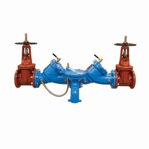 WATTS® 0122773 LF909 Reduced Pressure Zone Assembly, 2-1/2 in, Resilient Seated Gate Valve, Cast Copper Silicon Alloy Body, 7.5 fps