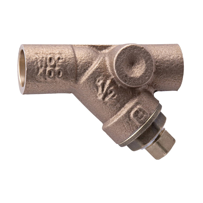 WATTS® LF777S Wye Strainer With Retainer Cap, 2-1/2 in, 8-1/2 in OAL, NPT, Bronze