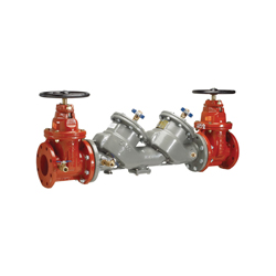 Febco® MasterSeries® 0124527 LF850 In-Line Large Diameter Double Check Valve Assembly, 2-1/2 in, Flange, Resilient Wedge Gate Valve, Ductile Iron Body