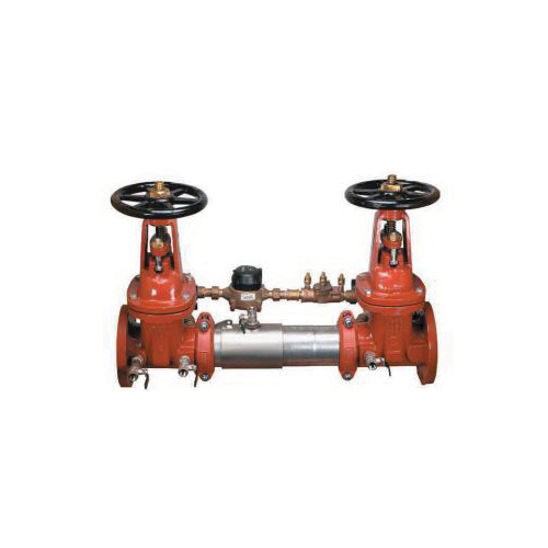 WATTS® 0122712 LF757DCDA Detector Assembly, 6 in, Flange, Resilient Seated Gate Valve, 304 Stainless Steel Body, Double Check Backflow, 150 lb