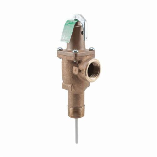 WATTS® 0163803 LLL40XL Automatic Reseating Temperature and Pressure Relief Valve, 3/4 in, MNPT x FNPT, 150 psi, Bronze Body