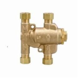WATTS® Under Sink Guardian® 0204143 LFUSG-B Thermostatic Mixing Valve, 3/8 in, Compression, 150 psi, 0.25 gpm, Brass Body
