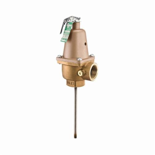 WATTS® 0315120 N240X Automatic Reseating Temperature and Pressure Relief Valve, 1 in, FNPT, 125 psi, Bronze Body
