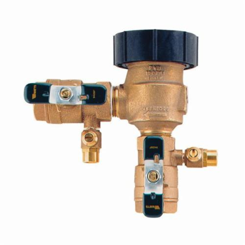 WATTS® 0388015 800M4FR Freeze-Resistant Pressure Vacuum Breaker With Quarter Turn Ball Valve Shutoff, 1 in, FNPT, Bronze Body, 7.5 fps