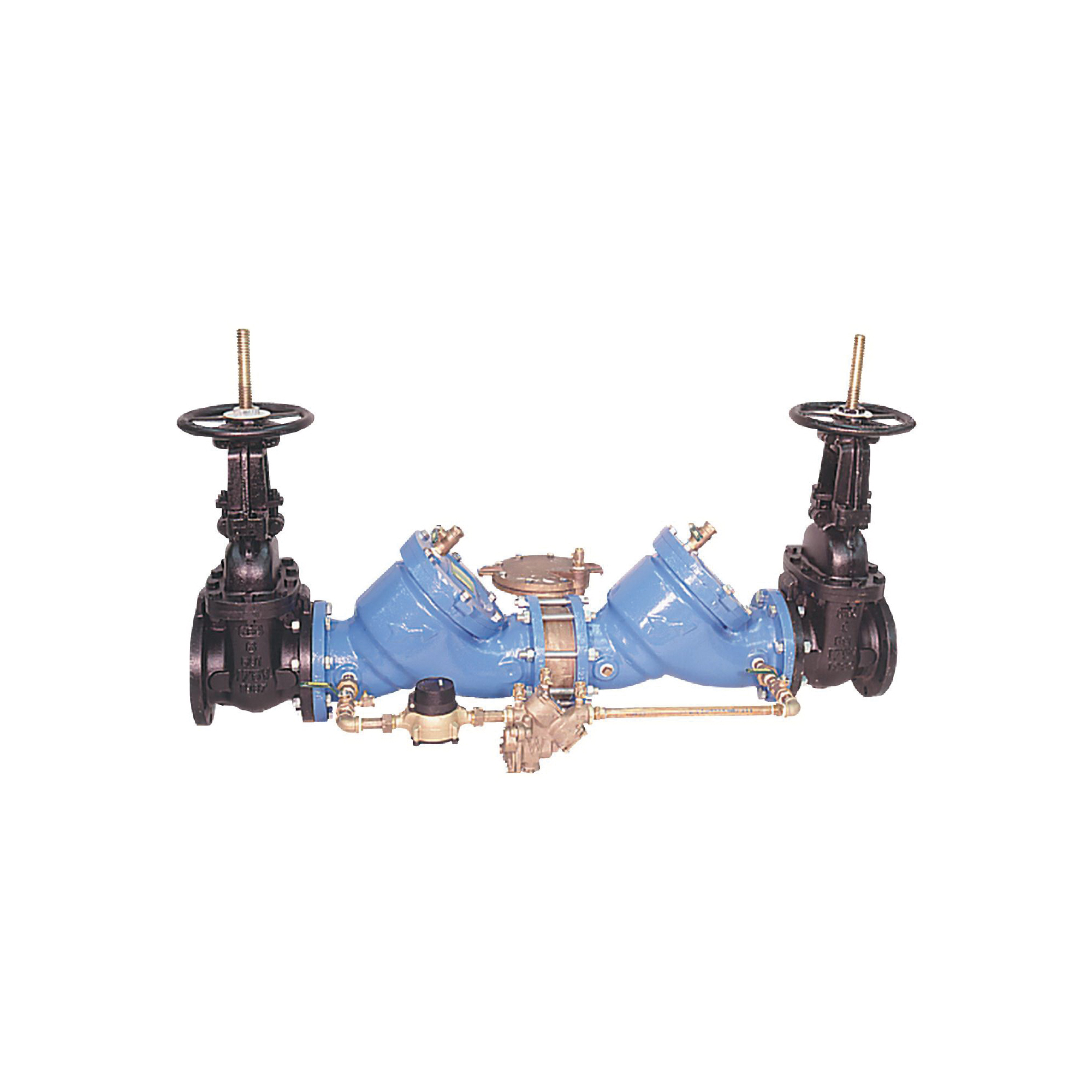 WATTS® 0387466 909RPDA Detector Assembly, 6 in, Resilient Seated Gate Valve, Cast Iron Body, Reduced Pressure Backflow