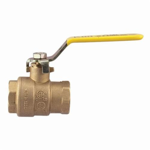 WATTS® 0547107 FBV-3C 2-Piece Ball Valve, 2 in, Thread, Brass Body, Full Port
