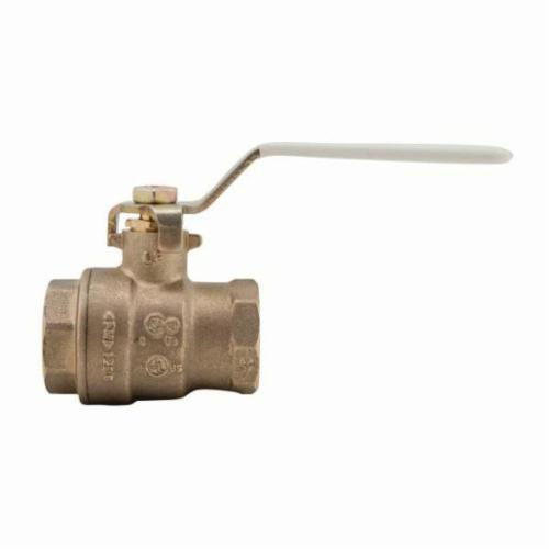 WATTS® 0555103 LFFBV-3C 2-Piece Ball Valve, 3/4 in, FNPT, Silicon Alloy Body, Full Port
