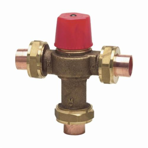 WATTS® 0559104 LF1170 Temperature Control Valve, 3/4 in, Union Thread, 150 psi, 0.5 gpm, Copper Silicon Alloy Body