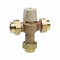 WATTS® 0559116 LFMMV Thermostatic Mixing Valve, 1/2 in, Union Thread, 150 psi, 0.5 to 20 gpm, Cast Copper Silicon Alloy Body